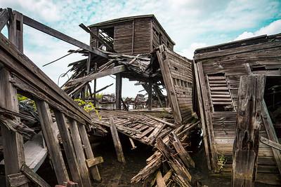 collapsed pier