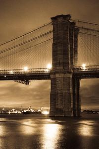 Brooklyn bridge, golden hour