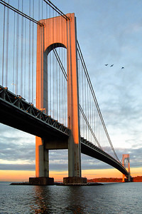 Verrazano Bridge, sunrise
