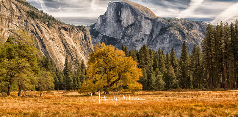 Half Dome Autumn SKy