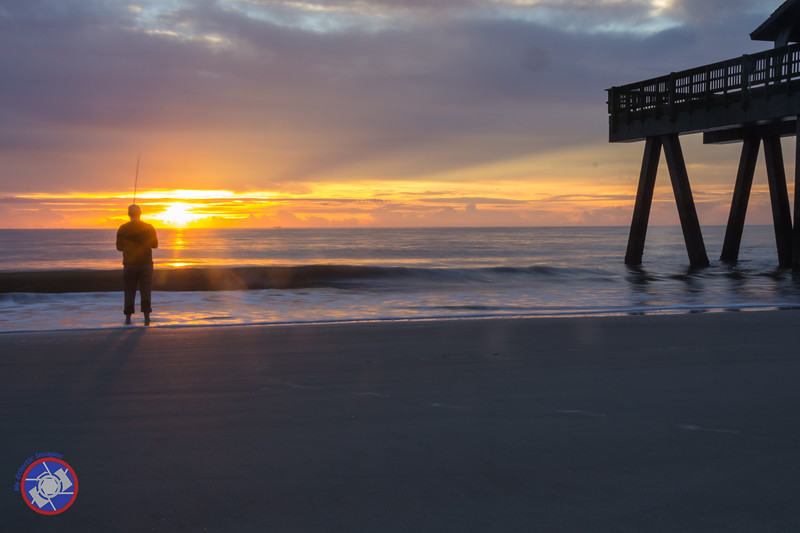 Sunrise on the Beach in Front of Hotel Tybee (©simon@myeclecticimages.com)
