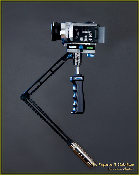 HANDHELD DAMPING SYSTEM<br /> <br /> The system incorporates a high-strength alloy spring. The Pegasus II unique patented hand-held shock absorption and balance design greatly absorbs vibration generated during shooting. Combined with the fine adjustment system of the bi-directional platform, shooting is enjoyed with maximum stability when using super-light and medium weight video cameras.<br /> <br /> COUNTERWEIGHT <br /> <br /> This is provided with high-grade chrome-plated weights. These are supplied in different weights to provide a wide scope of application. They can be individually added or removed very quickly to provide very fine adjustment during set-up or when disassembling the stabilizer. <br /> <br /> <br /> <br /> COMPETITIVE PRICE <br /> <br /> The Pegasus II stabilizer allows film and video professionals and camcorder enthusiasts who, without a stabilizer, are unable to realize their dream of shooting professional looking movies. The low cost allows all videographers to own this necessary equipment which compares with those used by Hollywood movie shooting masters.