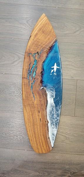 """28"""" Waimea Valley Koa with Hampback Whales"""