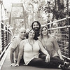 family 5 on the bridge bw matte