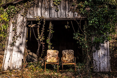 Metal Chairs by Old Wood Barn