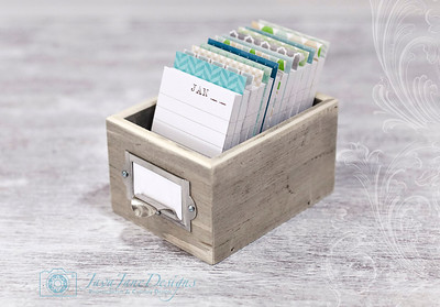 Beachy Blues and Greens Daily Journal - Warm Weathered Gray Wooden Box
