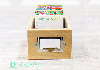 Colorful Daily To Do List Planner with Rustic Wooden Box