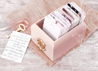 Mother's Day Gratitude/Daily Journal - Pink Wooden Box with Gold Accents