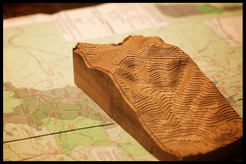 Topographic Model- Mt. Washington, NH.
