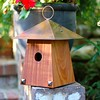Avian Bungalow - Mahogany with Burnished Copper Roof
