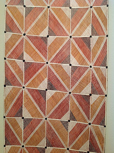 From an exhibition of Australian Aboriginal art. Not sure why I am including these here, they just seem like something that will affect my work down the road.