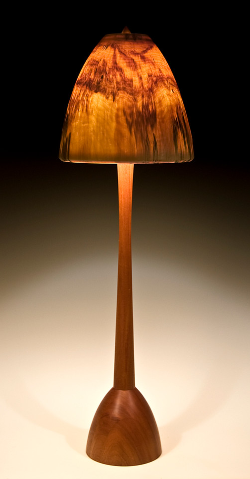 Chalice Floor Lamp with Large Mushroom Shade
