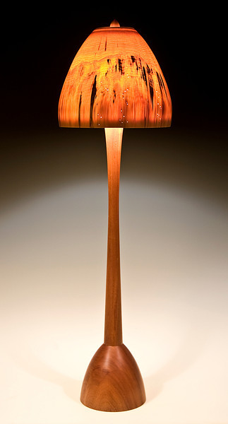 Chalice Floor Lamp with Turned-in Mushroom shade