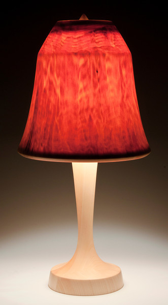 'Contemporary' Base made out of Aspen, with Flare Shade