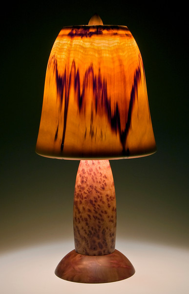 Camphor Burl Base with Bell Shade