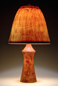 'Torso' Base made of Mahogany, with Bell Shade