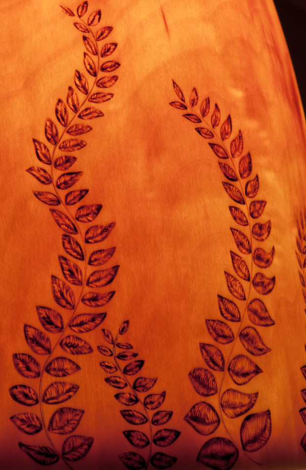 """""""Amber Leaves at Sunset"""" - Detail"""