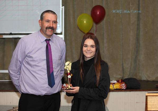 Stephen O'Byrne with Heidi Regan (Player-of-the-Year)
