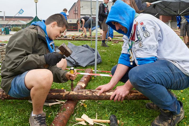 Lancement des installations chez les scouts pluralistes