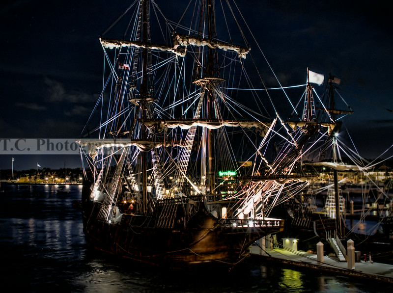 El Galeon at night in St. Augustine, Florida