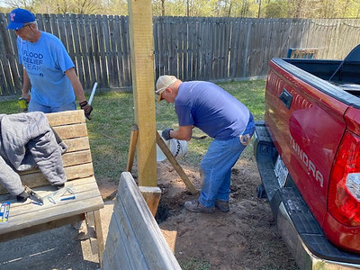 Dennis Mountz - Replant Posts for Pergola 03202021 9