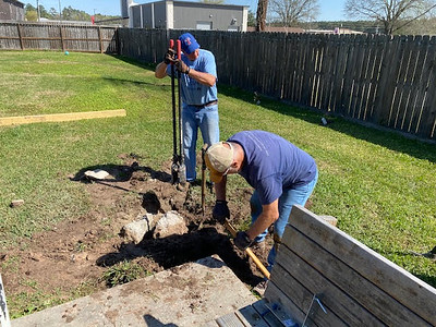 Dennis Mountz - Replant Posts for Pergola 03202021 3