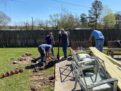 Dennis Mountz - Replant Posts for Pergola 03202021 6
