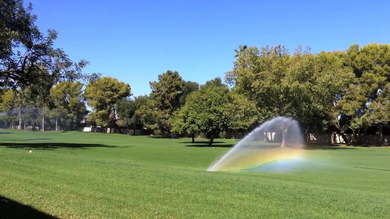 Rainbow in Sprinkler