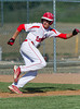 Woodland Christian School Cardinals vs. Millennium Falcons; Varsity baseball action at Trafican Field, Matmor Campus, Woodland CA.