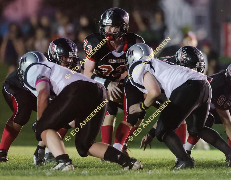 Woodland Christian School football action vs. Valley Christian