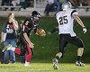 Woodland Christian School football action vs. Valley Christian