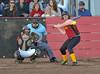 Woodland Christian School v. Foresthill, Girl's Varsity Softball action at WCS.