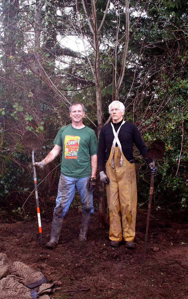 A 20' Acer maple goes in on Feb 14, 2010.  Bernie and John... proud hole diggers.