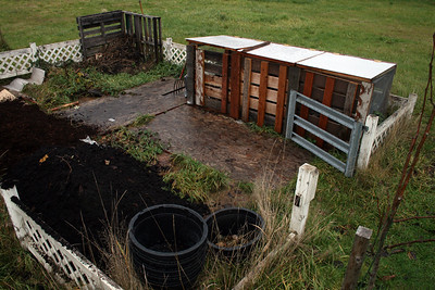 Our compost area.