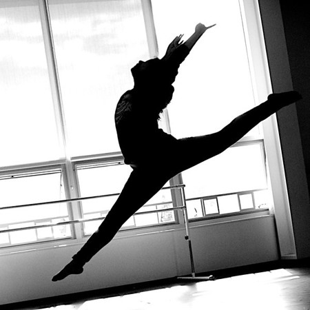 Dance Rehearsal - Black & White