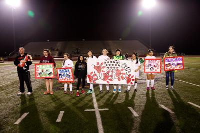 Soccer - Girls Varsity - Senior Night 2015