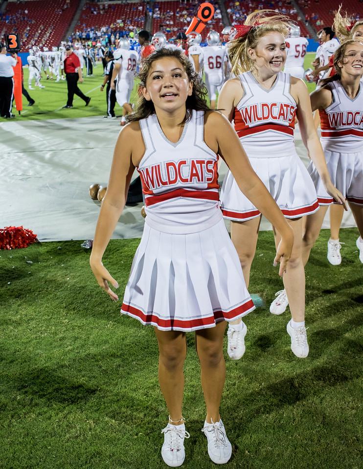 Cheerleaders at Frisco Game-35