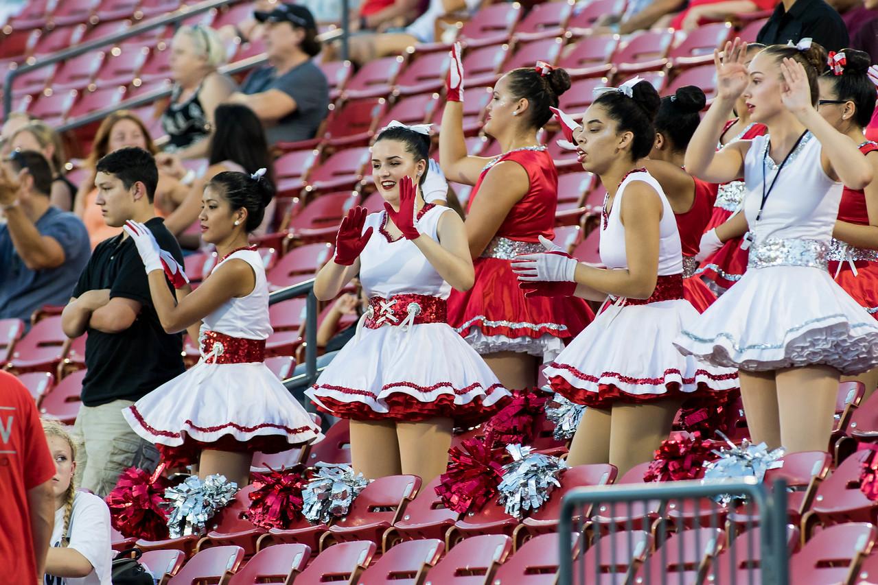 Cheerleaders at Frisco Game-4