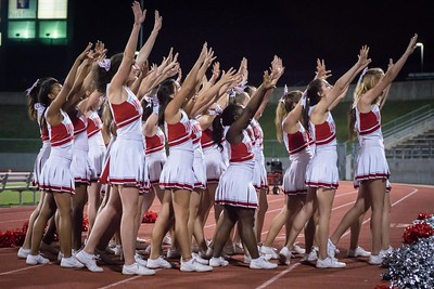 Cheerleaders - Varsity at Kimball Game-44