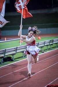 Cheerleaders - Varsity at Kimball Game-37