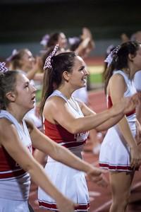 Cheerleaders - Varsity at Kimball Game-23