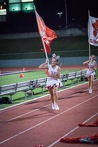 Cheerleaders - Varsity at Kimball Game-25