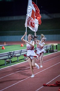 Cheerleaders - Varsity at Kimball Game-33