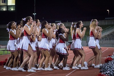 Cheerleaders - Varsity at Kimball Game-46