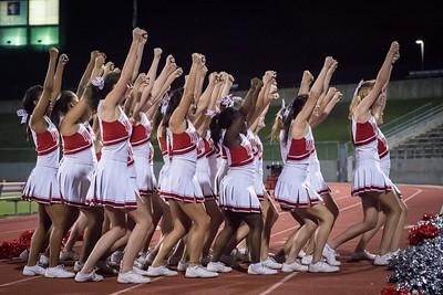 Cheerleaders - Varsity at Kimball Game-48