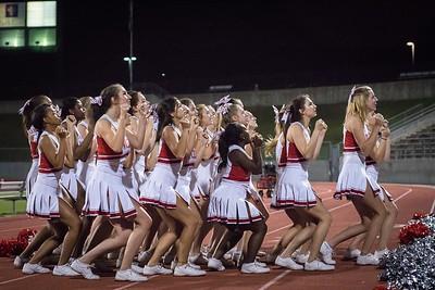 Cheerleaders - Varsity at Kimball Game-45
