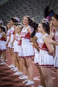 Cheerleaders - Varsity at Kimball Game-18