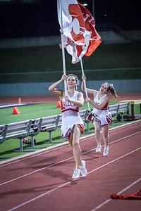 Cheerleaders - Varsity at Kimball Game-30