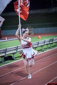 Cheerleaders - Varsity at Kimball Game-36