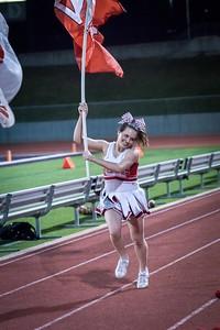 Cheerleaders - Varsity at Kimball Game-34